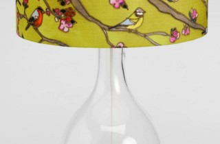Silk painted lampshade