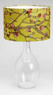 Silk painted lampshade